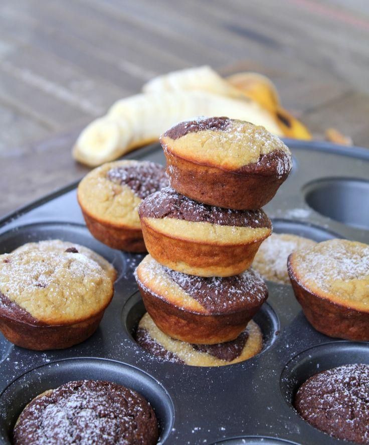 Sjokolade og banan muffins