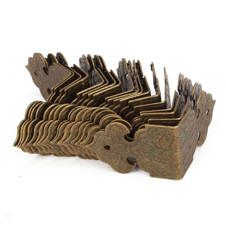 Amazon.de: BQLZR bronze Decorativ Box Kantenschutz Kantenabdeckung Graviert Design Vintage Packung