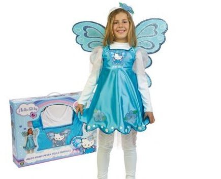 Costume Farfalla Hello Kitty Carnevale per bambine: Abito Butterfly Hello Kitty
