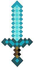 Espada Minecraft de Espuma (Diamante)