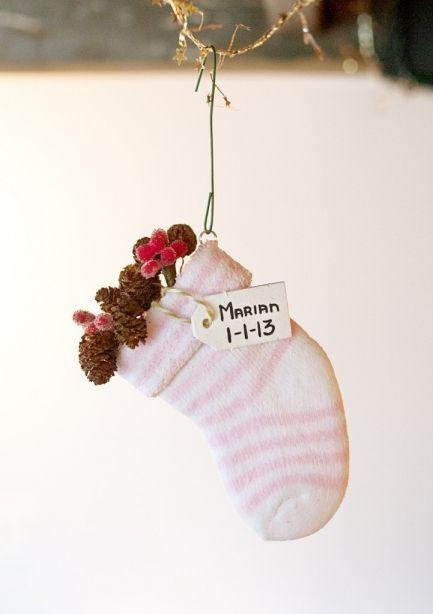 DIY Baby's 1st Christmas Keepsake Sock Ornament Tutorial - East Camp Home
