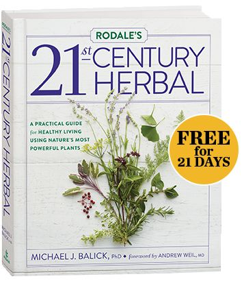 Rodale's 21st-Century Herbal shows you how easy it is to bring healing herbs into your life. Boost your health naturally, add beauty to your garden, flavor your favorite dishes, and more! Learn the most common uses for your favorite herbs and the healing remedies you can prepare and even grow yourself!