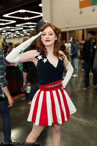 Haha I love it. Captain America's dance girls