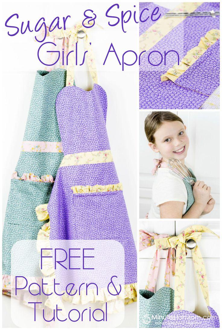 Free Girls Apron Pattern and Tutorial