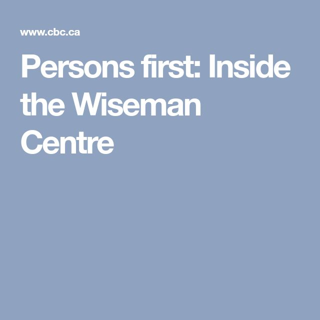 Persons first: Inside the Wiseman Centre