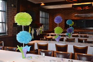 Monster's Inc Baby Shower Round Up - Centerpieces?