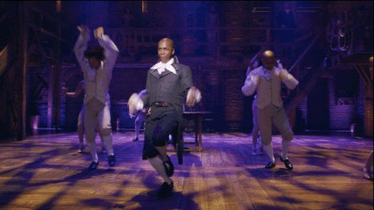 """When Leslie Odom Jr., who plays Aaron Burr, sang """"The Room Where It Happens."""" 