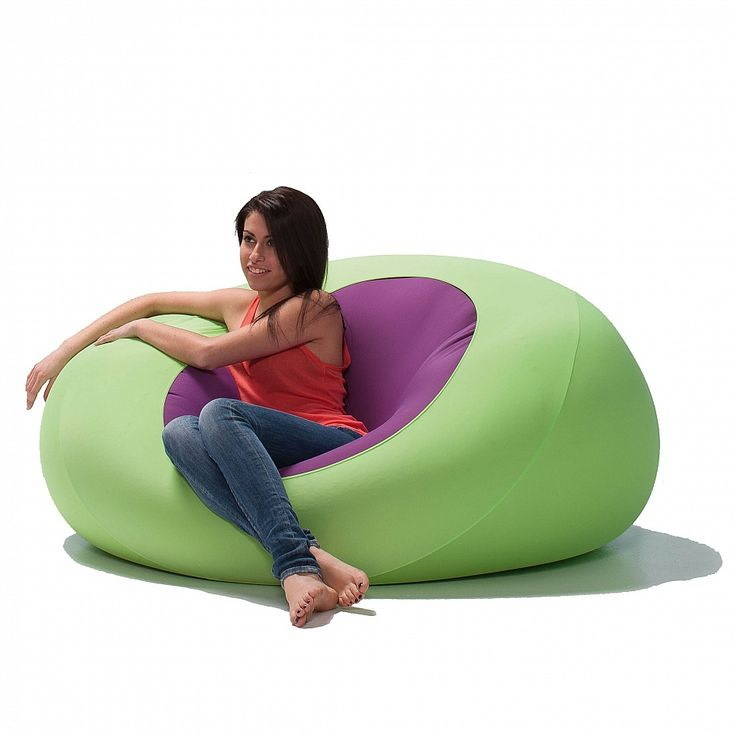 Sphere expandable pouf. Soft fabric, flamboyant colours, very appealing for kids.