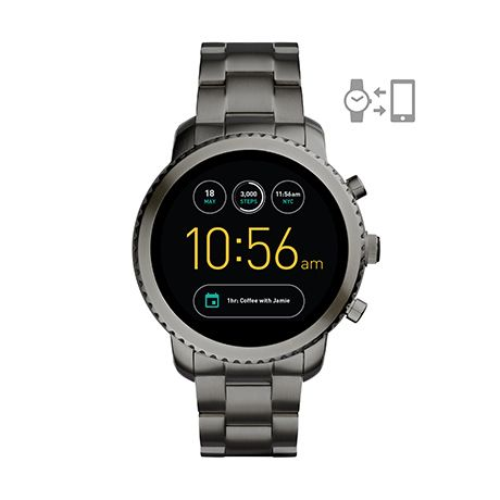409b741c85152 Fossil Q Explorist smartwatch (smoke stainless steel)