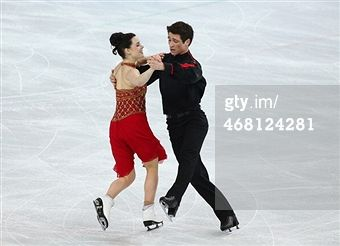 SOCHI, RUSSIA - FEBRUARY 09: Tessa Virtue and Scott Moir of Canada competes in the Team Ice Dance Free Dance during day 2 of the Sochi 2014 Winter Olympics at Iceberg Skating Palace on February 9, 20...