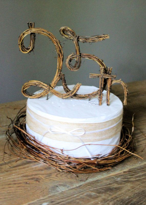 Cake Topper Wedding Rustic