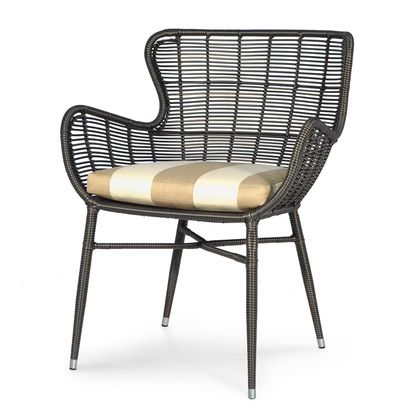 "PALERMO OUTDOOR CHAIR, ESPRESSO 26.75""w x 26.75""dp x 33.5""hPALERMO OUTDOOR CHAIR, ESPRESSO  Powder coated aluminum frame hand-woven with highest quality all-weather synthetic wicker with maximum UV protection."