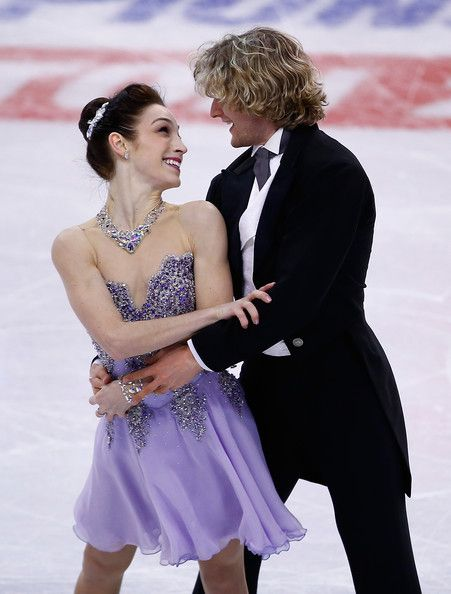 Meryl Davis and Charlie White 2014 U.S. Figure Skating Championships || I love her dress. I love them.