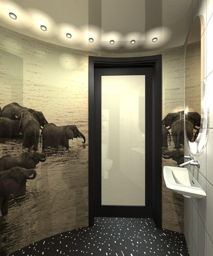 wild bathroom