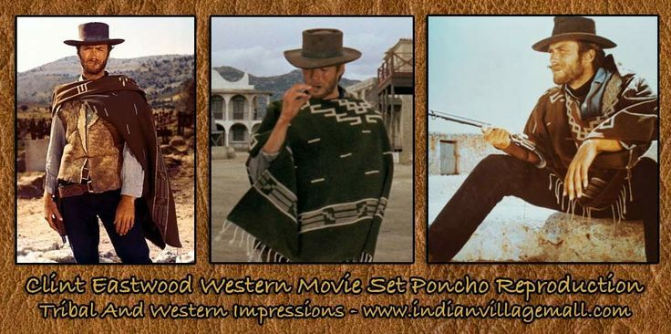 Spaghetti Western Clint Eastwood Style Poncho reproduction ...