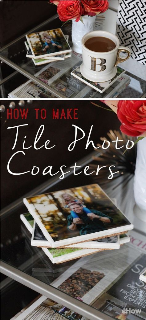Say no to boring coasters! These photo tile coasters are such a great way to share and remember your favorite family moments, vacations, holidays or special events! These also make great sentimental gifts for any holiday or birthday. http://www.ehow.com/how_7729040_make-tile-photo-coasters.html?utm_source=pinterest.com&utm_medium=referral&utm_content=freestyle&utm_campaign=fanpage