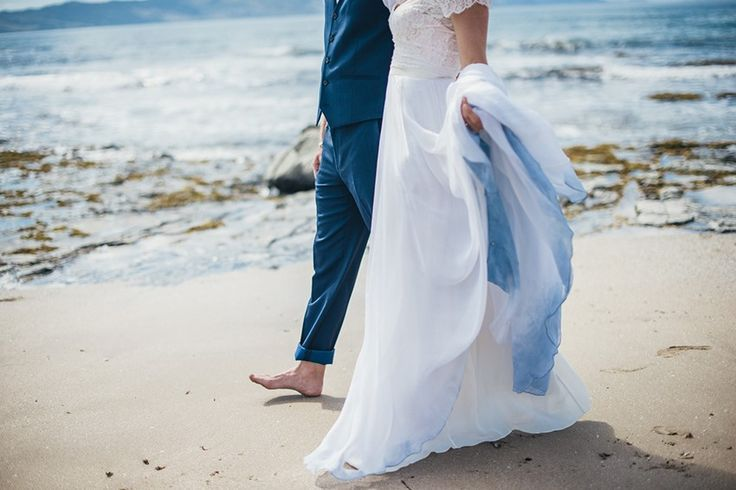 A Boho Vintage Beach Wedding In New Zealand Chic Vintage Brides Dip Dye Wedding Dress Ombre Wedding Dress Dye Wedding Dress