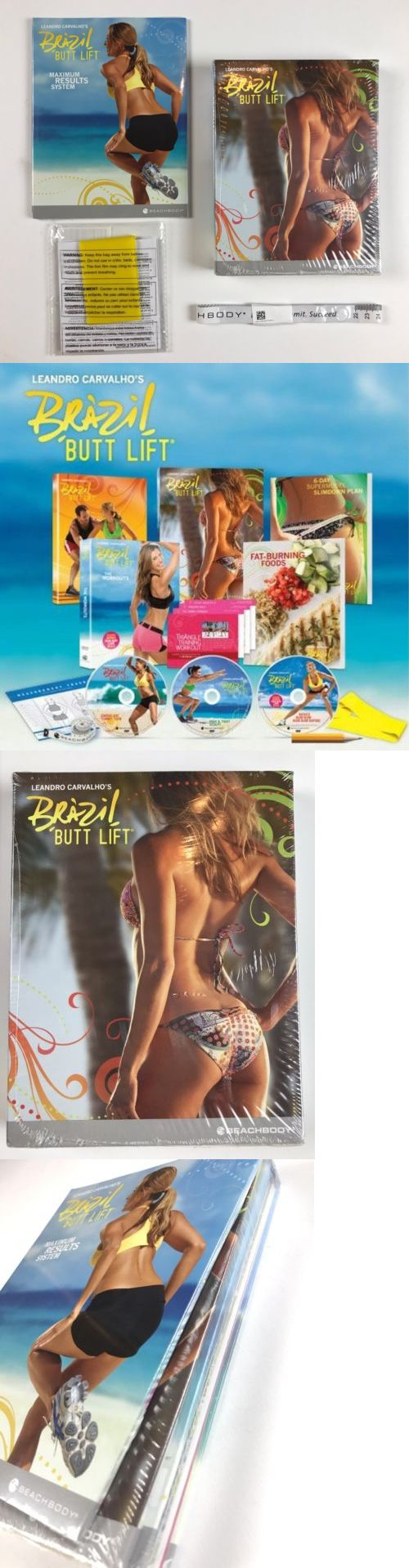 Fitness DVDs 109130: Brazil Butt Lift Leandro Carvalho Workout Dvd Kit - New In Package + Bonus Band -> BUY IT NOW ONLY: $55 on eBay!