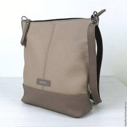 """Купить """"Minisenta"""" кажаная сумка планшет - серый, борисов вячеслав, toyoko, сумка ручной работы"""