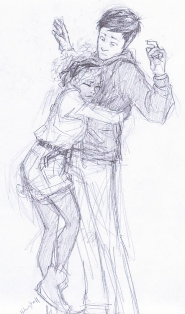 40 Romantic Couple Hugging Drawings and Sketches