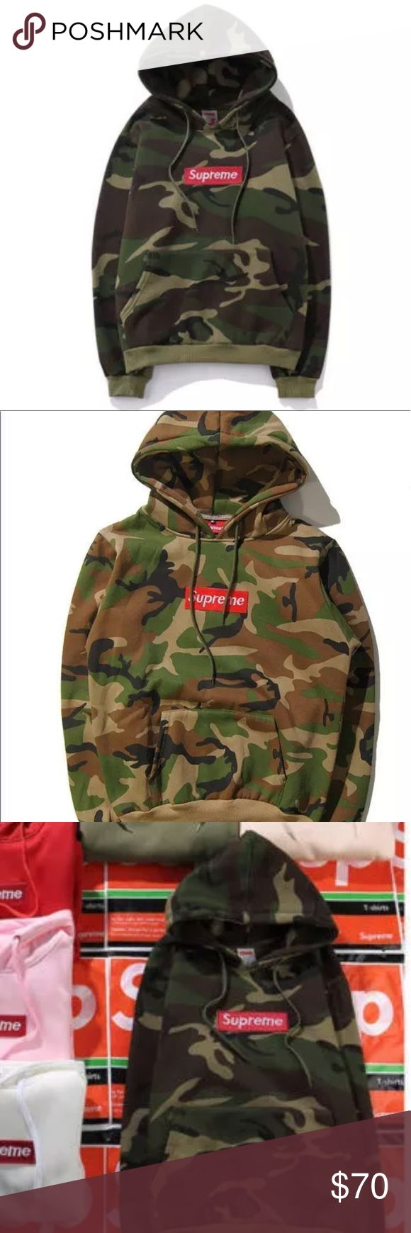Camo supreme pullover hoodie Camouflage supreme hoodie sweater Supreme Sweaters Crewneck