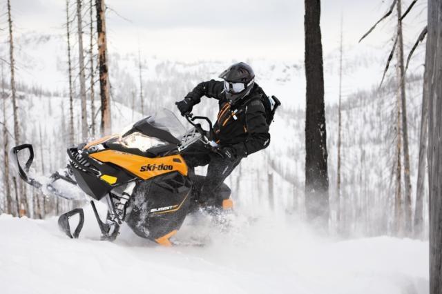2013 Ski-Doo Summit SP in action