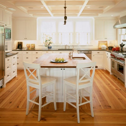 U shaped kitchen with island design pictures remodel for Kitchens with islands in the middle