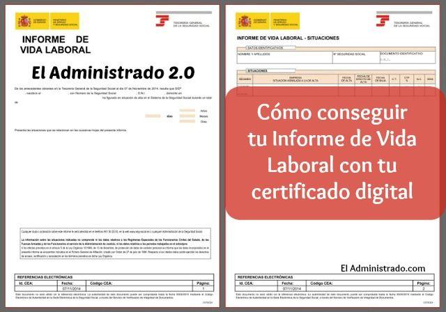 Consigue tu informe de vida laboral con un certificado digital