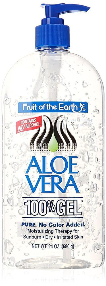 Aloe Vera Gel 100% Fruit Of The Earth Moisturizing For Sunburn Dry Skin 24 OZ #FruitoftheEarth