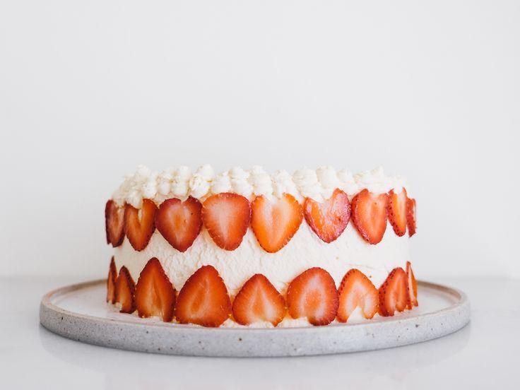Strawberry Guava Chiffon Cake