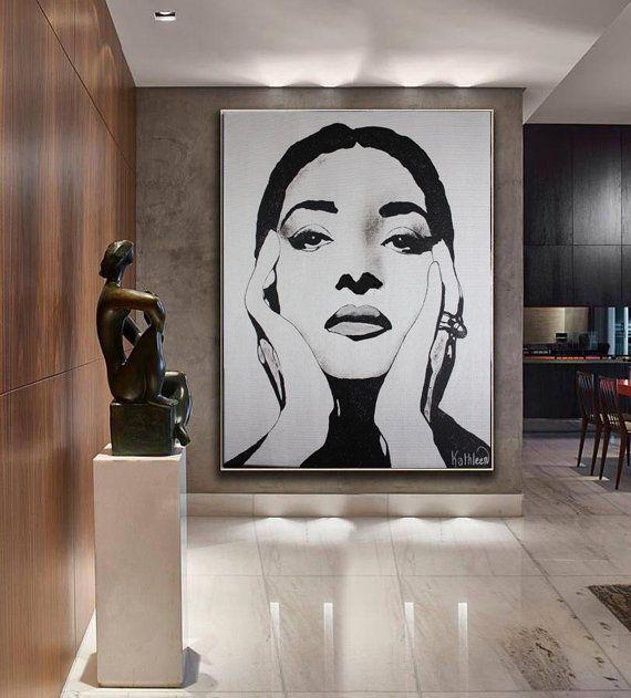 Maria Callas Art Painting Artwork Portrait Wall Art Etsy Painting Modern Canvas Art Etsy Wall Art