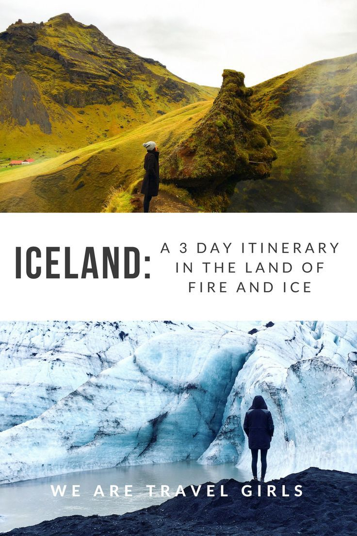 ICELAND: A 3 DAY ITINERARY IN THE LAND OF FIRE AND ICE - Searching for an affordable but unforgettable short vacation? Look no further than the country that is more affordable than ever to see in 2017: Iceland! By Emilia Drozda for http://WeAreTravelGirls.com