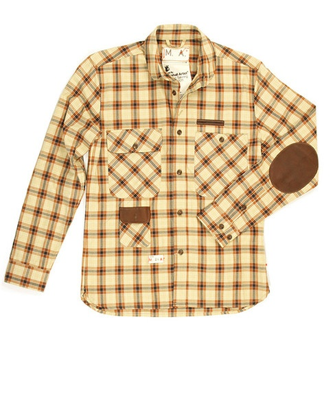 Revolver | Marshall Artist Cream & Brown Plaid Shirt