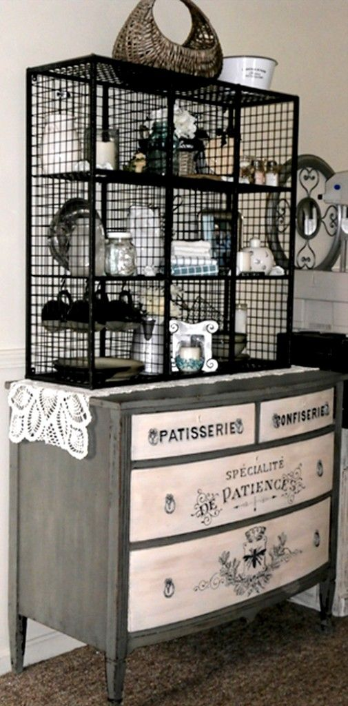 DIY Painted Dresser and Hutch - Reader Featured Project - The Graphics Fairy