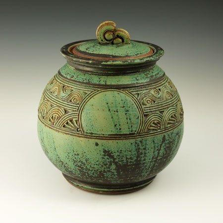 Sandy Bronze Metallic Glaze Recipe C 6 Ball Clay 20 Manganese Dioxide 80 Copper Carbonate 20 pot by Nick Blaisdell
