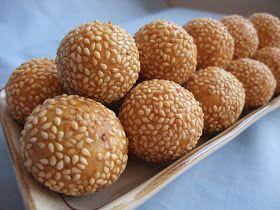Veronica's Kitchen: Chewy Pumpkin Sesame balls - 南瓜芝麻球