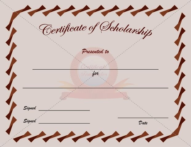 502 best Certificate Template images on Pinterest Certificate - sample scholarship certificate