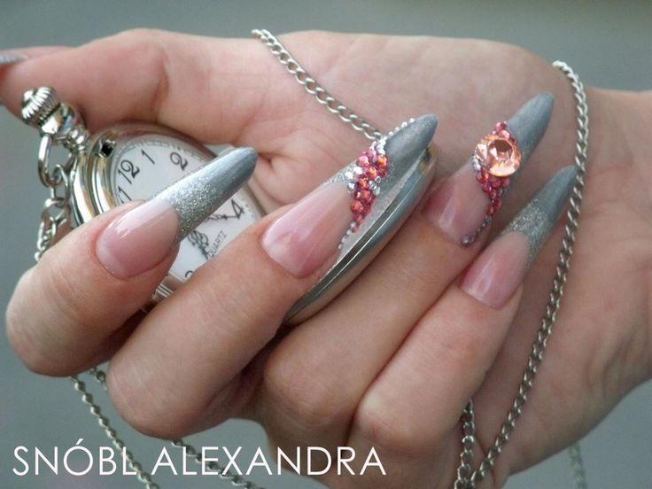 Grey and salmon