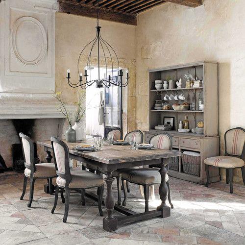 Table de salle manger en bois l 220 cm my home de r ve for Table salle a manger 220 cm