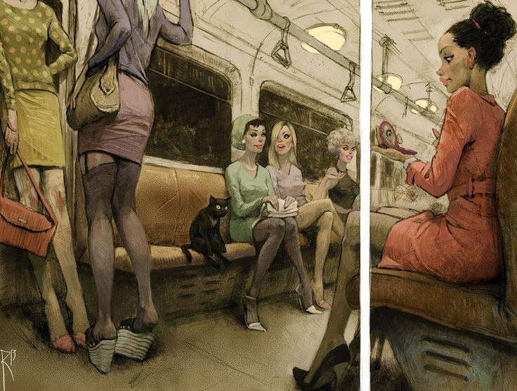 Уникальные рисунки Вальдемара Казака в стиле ретро