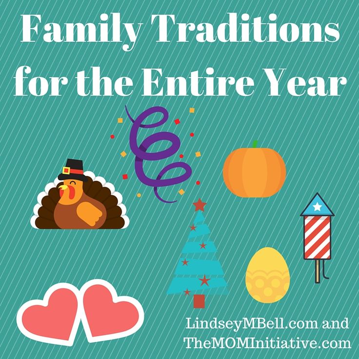 One fun way to build memories with your kids is to create family traditions...traditions you do each and every year.  Here are some easy family traditions for holidays throughout the year!