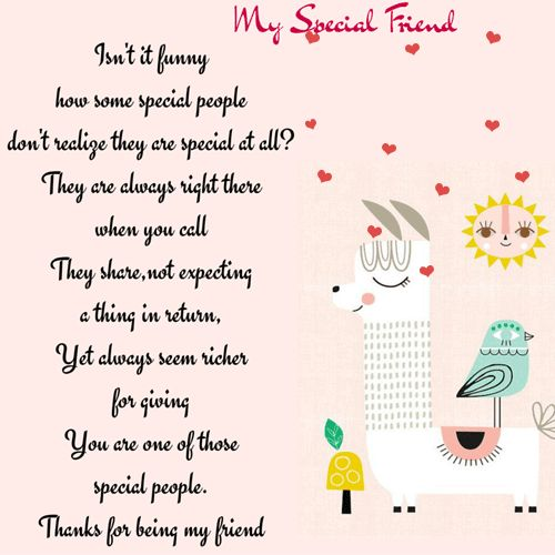 Special Friend Quote: 17 Best Ideas About Friendship Poems On Pinterest