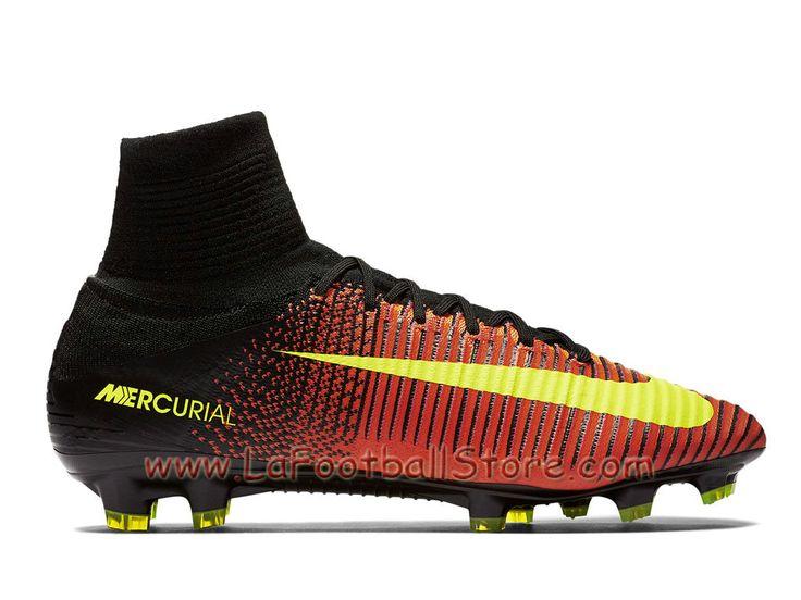 Nike Mercurial Superfly V FG Chaussure de football à crampons pour terrain  sec pour Homme Volt