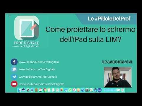"""Le #PilloleDelProf - #1 """"Come proiettare lo schermo dell'iPad sulla LIM?"""" - YouTube"""