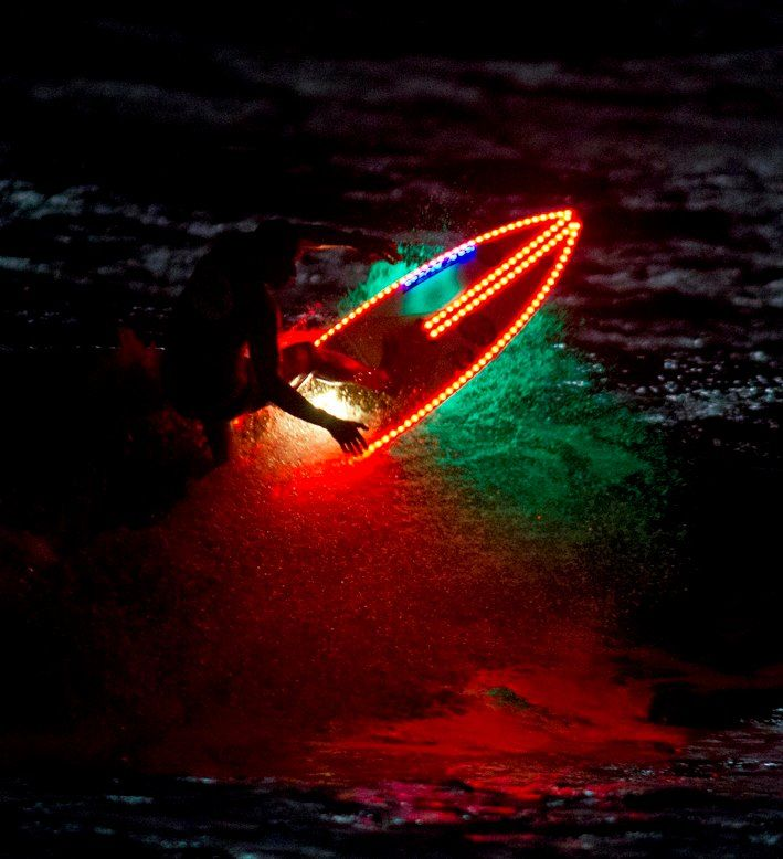 night surfing. where are the best spots? find and share them at surf.youspots.com