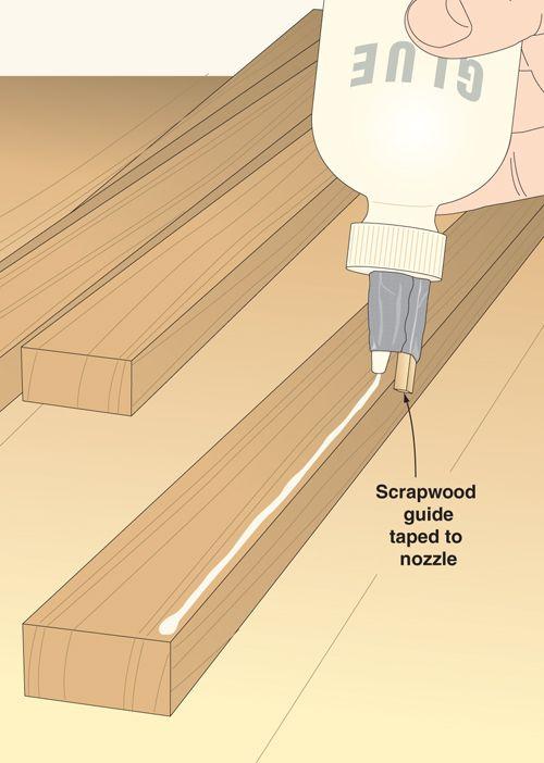 Comment faire des lignes de colle droites