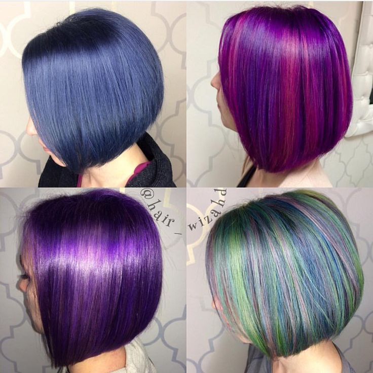 """"""" Happy Easter  Gorgeous Violet and Blue color design by @glamhairartist #hotonbeauty #hothairvids"""""""