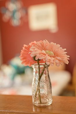 Best 25 milk bottle centerpiece ideas on pinterest for What kind of paint to use on kitchen cabinets for vase candle holder centerpiece