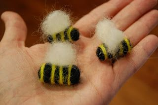Ancient Hearth: Summer Bees Needle Felting Tutorial