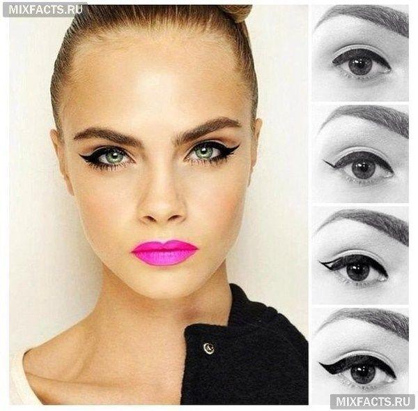 Правильные стрелки на глазах: выбираем и рисуем (фото)
